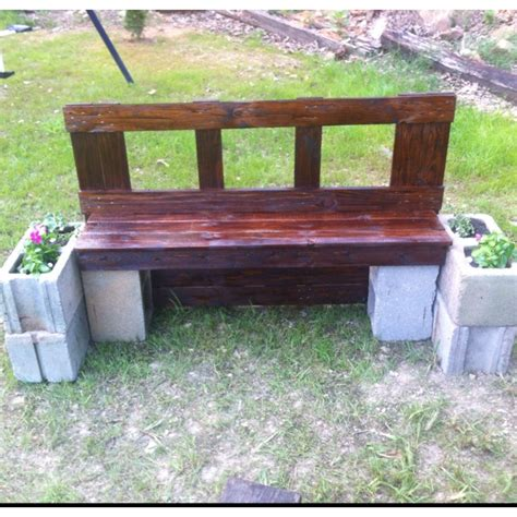 bench made from cinder blocks 17 best images about relaxing at the pond on pinterest