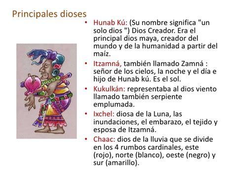 dioses mayas imagenes y nombres mayas