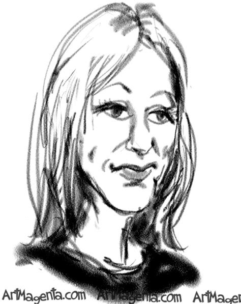 J K Rowling Sketches by Caricatures