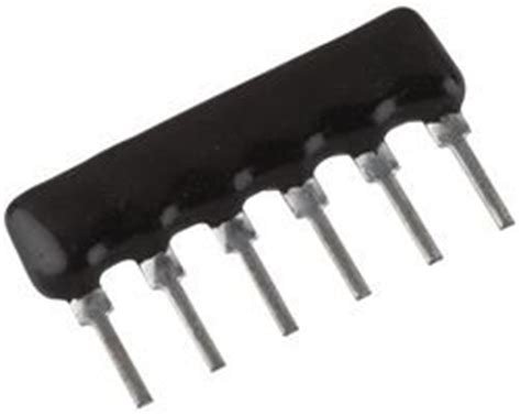 dale resistor array vishay dale csc06a 03 103g resistor res array 3 10kohm 2 sip fixed resistors