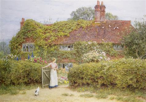 County House Plans Surrey Cottage Painting By Helen Allingham