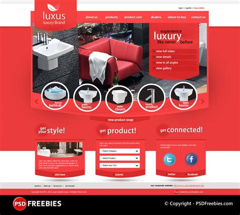 photoshop templates luxus luxury brand psd template psdfreebies