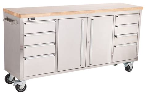 work bench with drawers trinity stainless steel 72 quot rolling workbench