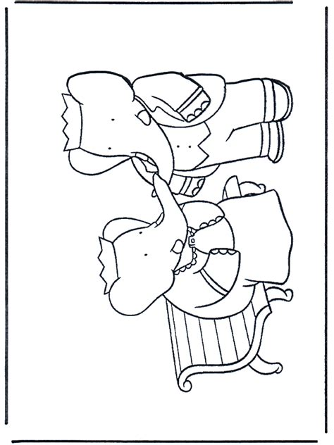 free coloring pages of babar