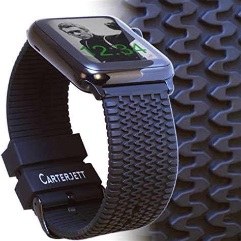 Apple 42mm Original Nomad Sillicone Black apple band 42mm tire tread sport silicone iwatch band rugged black rubbe