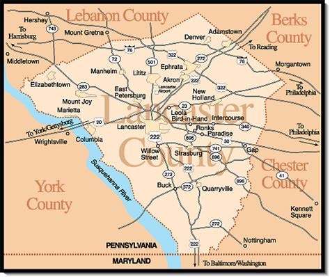 Towns & Villages in Lancaster County, PA