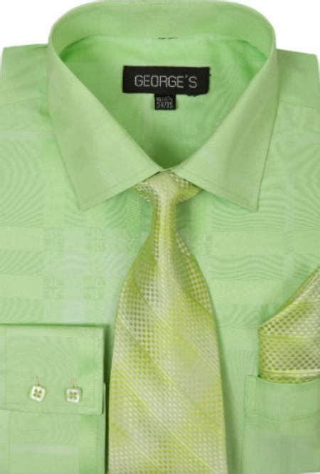 pattern dress shirt and tie sku sw960 mens cotton geometric pattern dress shirt with tie