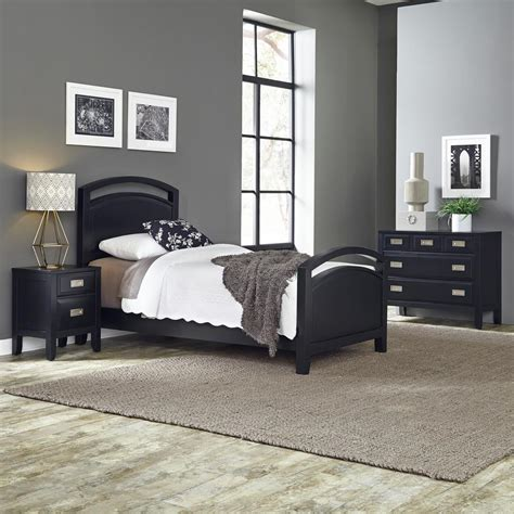 black twin bedroom furniture sets home styles prescott 3 piece black twin bedroom set 5514