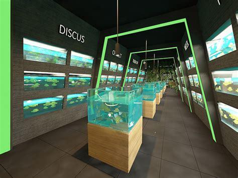 aquarium design store shape architecture interior design