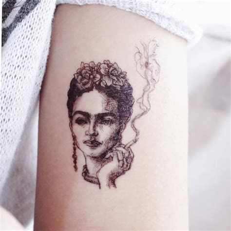 frida kahlo artist mexico lazyduo temporary tattoo sticker