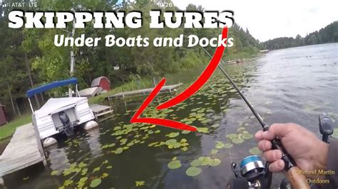 big fish under boat skipping lures under docks and boats for big fish youtube