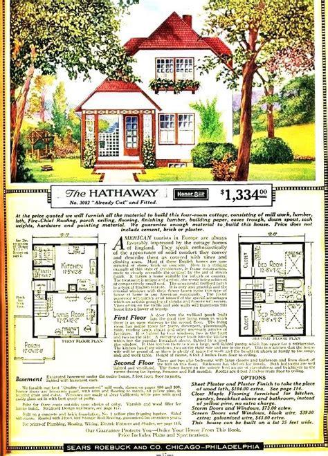 sears homes floor plans vintage sears roebuck co the hathaway cottage floor