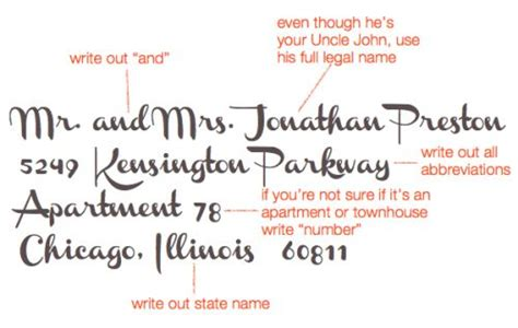 Wedding Address Website by This Website Shows Exactly How To Write Out Names And