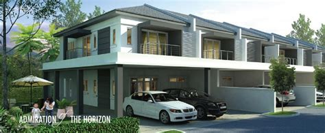 Garage Plans With Flex lite view 4 double storey terrace house by homelite