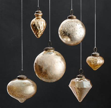 vintage hand blown glass ornaments
