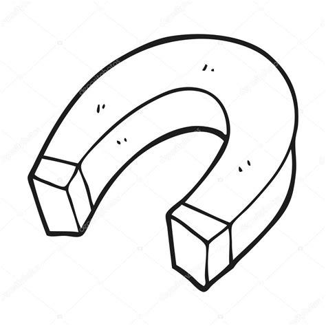 dibujo de iman para colorear y pintar im 225 n de dibujos animados blanco y negro vector de stock