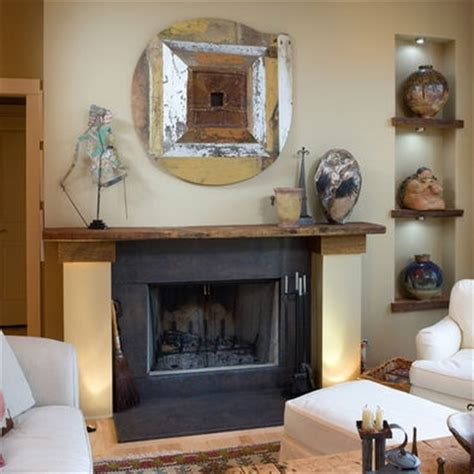 Large Shelf Decorating Ideas by Large Pottery On Shelves Wall Niche Decorating Ideas