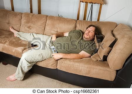 man sleeping on couch stock image of man asleep on the couch fat man sleeping