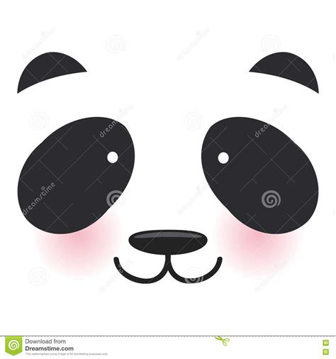 imagenes de ojitos kawaii museruola bianca del panda divertente di kawaii con le