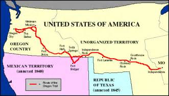 the oregon trail 1843 map