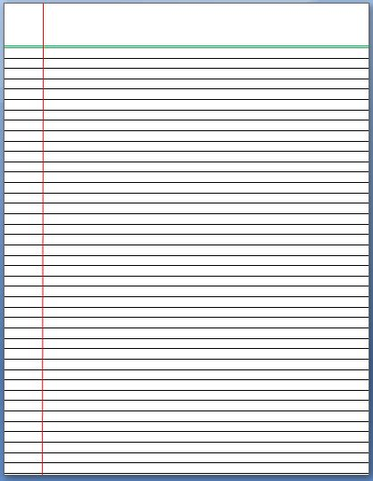 Make Lined Paper In Word Lined Paper Template Word Documents