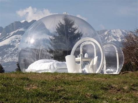 bubble tent cing in a bubble