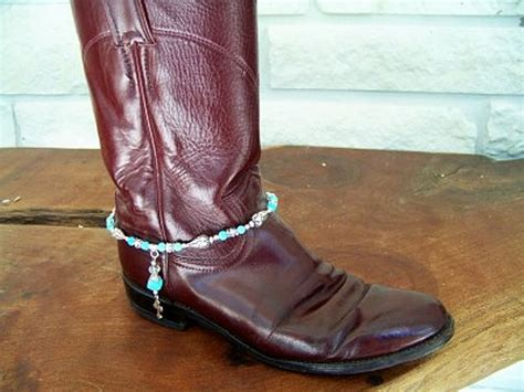how to make boot jewelry boot bracelet turquoise and quot bling quot boot jewelry