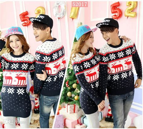 Matching Jumpers For Couples 2017 New Matching Sweaters With Reindeer