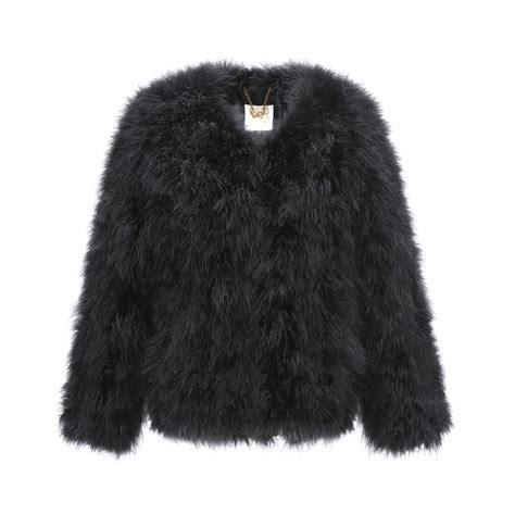 black fluffy fluffy black jacket jacketin