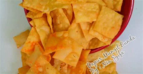 kripik kulit pangsit  resep cookpad