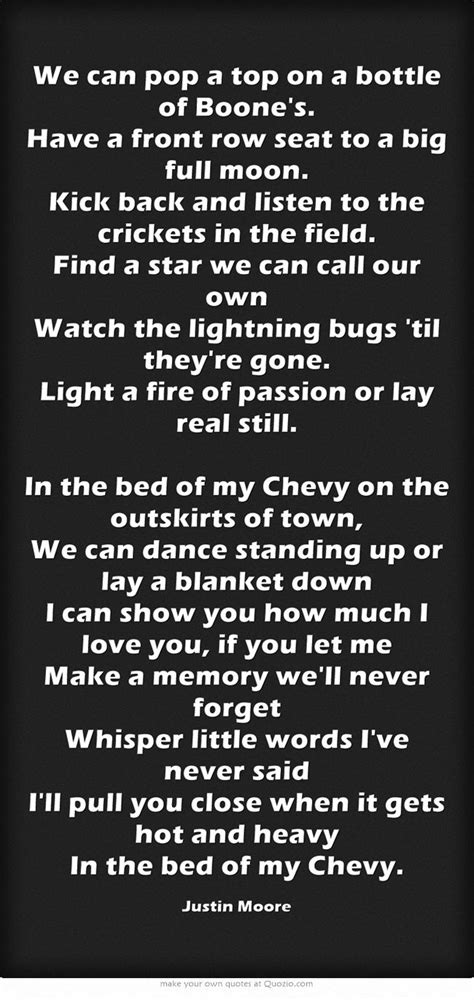 bed of my chevy lyrics 1268 best images about favorite country lyrics on pinterest