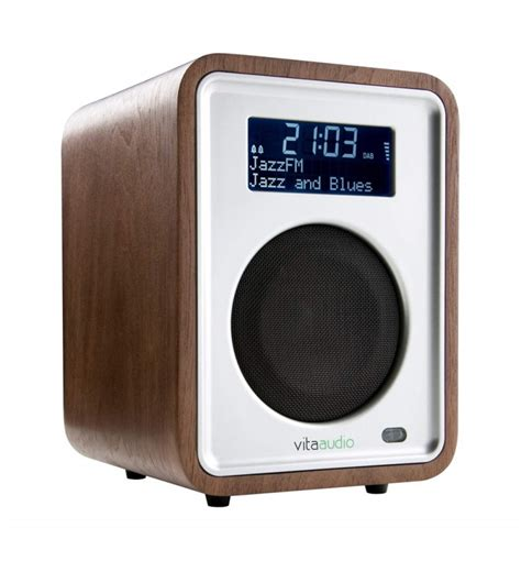Vita Audios Stylish Dab Radio by Vita R1 Dab Fm Radio Walnut Compact Audio At Vision Living