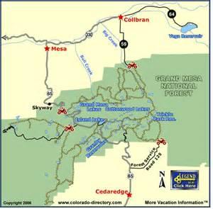 grand mesa colorado map grand mesa jeeping atv trails map colorado vacation