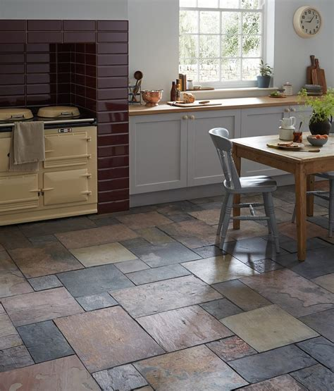 slate tile floor kitchen morespoons e17551a18d65