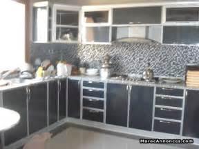 cuisine plusieur couleur en aluminium moderne meubles