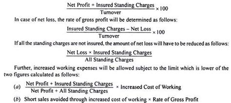 Gross Credit Loss Formula loss of profit in consequence of formula and