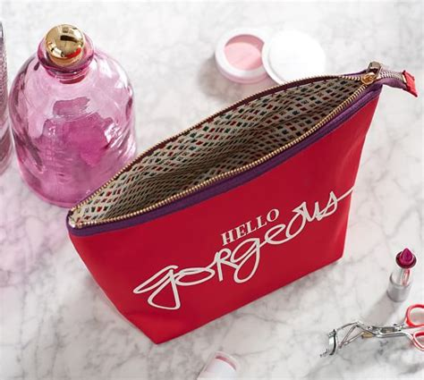 Hello Make Up Pouch hello gorgeous cosmetic pouch pottery barn
