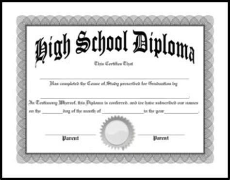 Free Homeschool Diplomas Template Free High School Diploma Templates