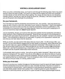 Scholarships Essays Exles by 8 Scholarship Essay Exles Sles