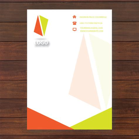 Business Letter Template Illustrator Letter Template Free Vector In Adobe Illustrator Ai