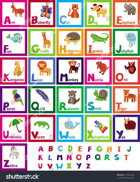 animal alphabet u education animal alphabet animal vector alphabet with animals education for