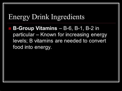 6 energy drink ingredients the dangers of caffeine spiked energy drinks ppt