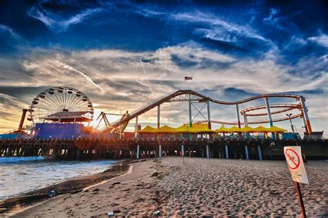 Home Interior Business by Fine Art Photograph Santa Monica Pier Hdr Palm Springs