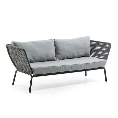 divani a tre posti divano da giardino a tre posti in metallo erminia design