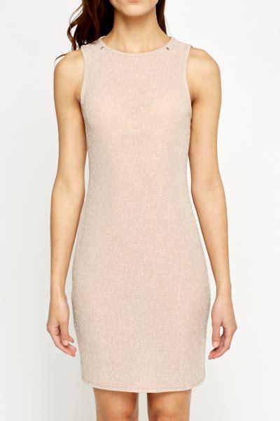 Metallic Light Pink Bodycon Dress Just 163 5