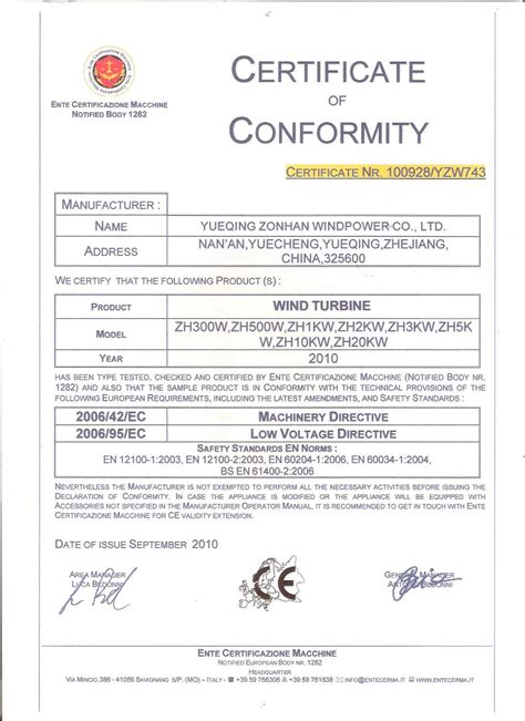 certificate of conformance template modal title