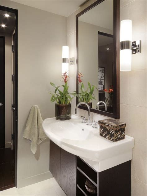 bathroom mirror with sconces contemporary powder room small vanity mirror design