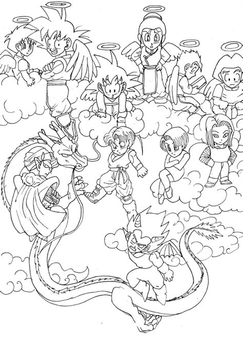 chibi dragon coloring pages dbz chibis by risachantag on deviantart