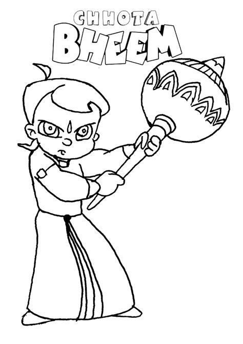 chota bheem coloring pages images chota bheem images coloring home
