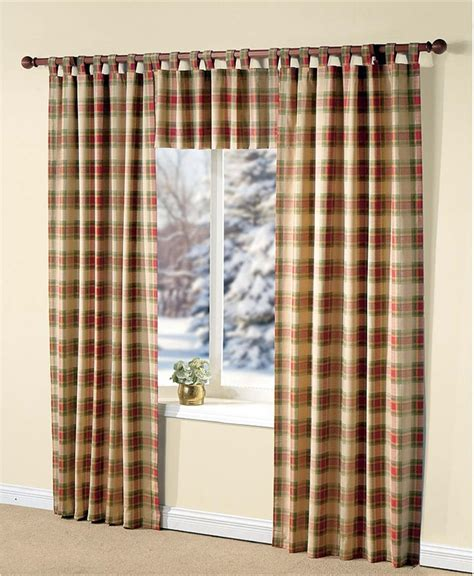 Plaid Curtains Curtains Drapes Blinds And Shades